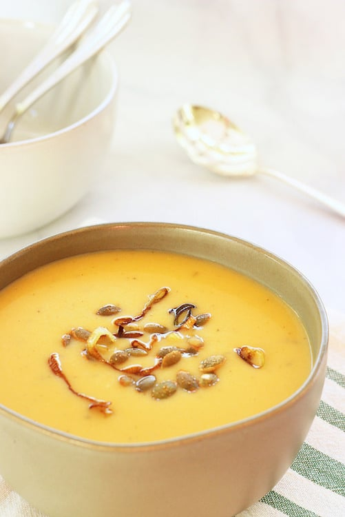 Butternut Squash and Green Apple Soup Craving Something Healthy