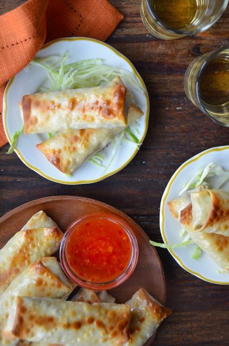 Crispy Baked Chicken Spring Rolls|Just A Taste