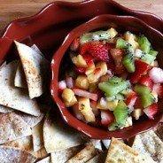 Sweet 'n Spicy Fruit Salsa by CravingSomethingHealthy.com