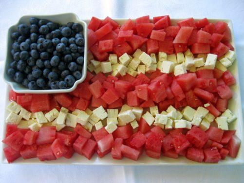 http://wenderly.com/2010/07/02/patriotic-watermelon-feta-flag/