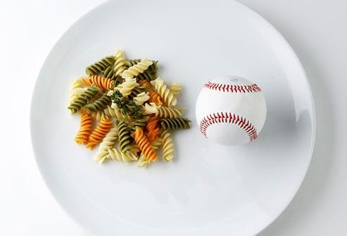 pasta portion size