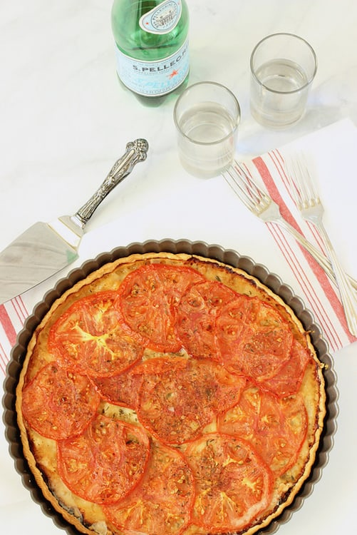 Summer Roasted Tomato Tart | Craving Something Healthy