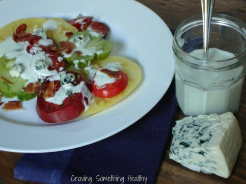 Heirloom Tomatoes with Blue Cheese Dressing and Bacon – Recipe Redux