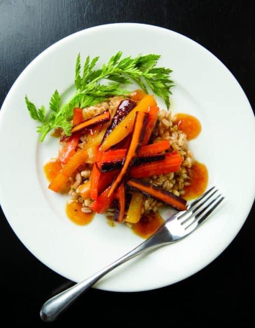 Glazed Carrots with Farro|Capital Style