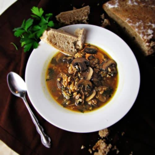 http://greatist.com/health/recipe-mushroom-farro-soup/