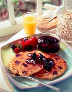 Double Berry Pancakes|Quaker Oats