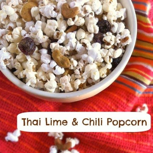 Thai Lime Chili Popcorn|Teaspoon of Spice