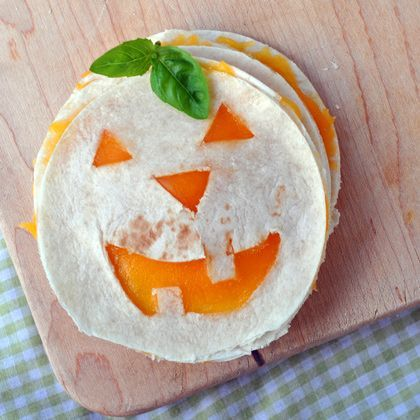 Jack-O-Lantern Quesadillas|Spoonful