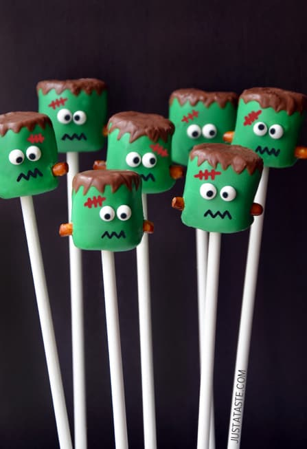 Frankenstein Marshmallow Pops|Just A Taste