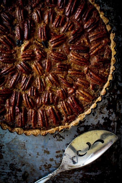Pecan Dried Cherry Tart With Maple|Healthy Seasonal Recipes