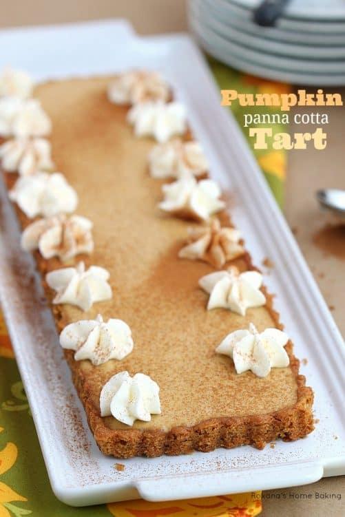 Pumpkin Pie Panna Cotta Tart|Roxanas Home Baking