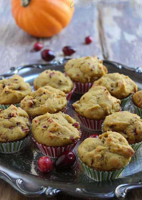 Pumpkin Cranberry Muffins Craving Something Healthy