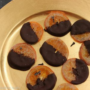 Dark Chocolate Covered Spiced Orange Slices