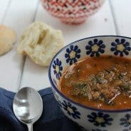 Lentil Soup with Spicy Sausage and Spinach|Craving Something Healthy