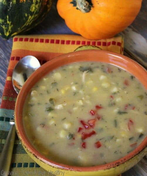 Chicken and Corn Chowder|Craving Something Healthy