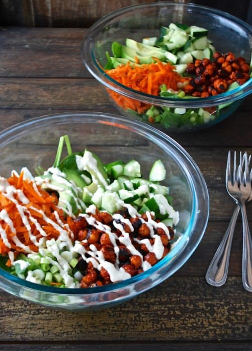Buffalo Chickpea Salad|Chocolate and Chickpeas