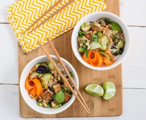 Thai Tofu and Noodle Salad|Oh My Veggies