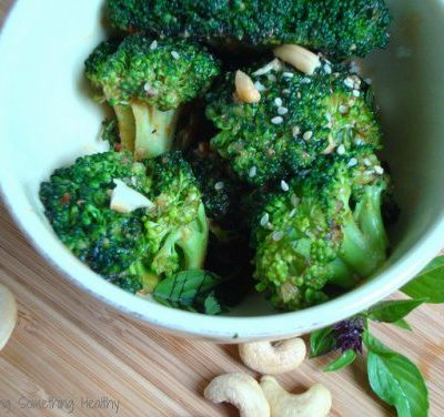 Spicy Broccoli with Peanut Sauce