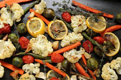 Lemon-Thyme Roasted Vegetables|Craving Something Healthy