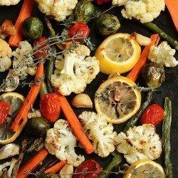 Lemon Thyme Roasted Vegetables Craving Something Healthy