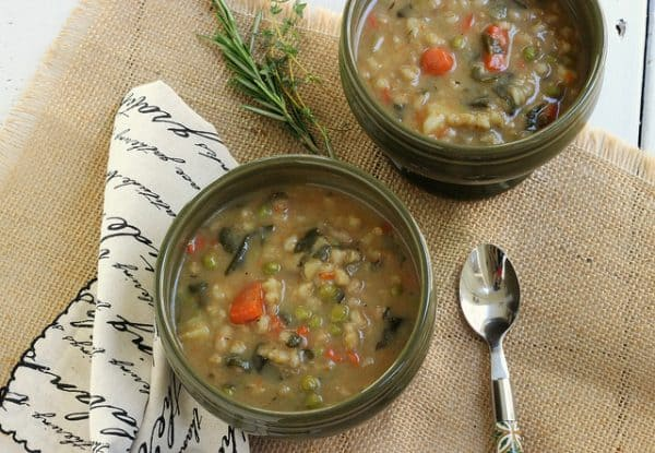 Bean and Barley Vegetable Soup | Homemade Vegetable Soup Recipes