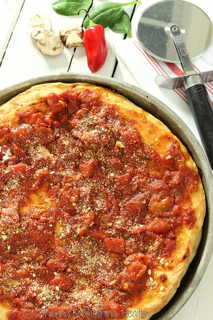 Healthier Chicago Style Pizza Craving Something Healthy