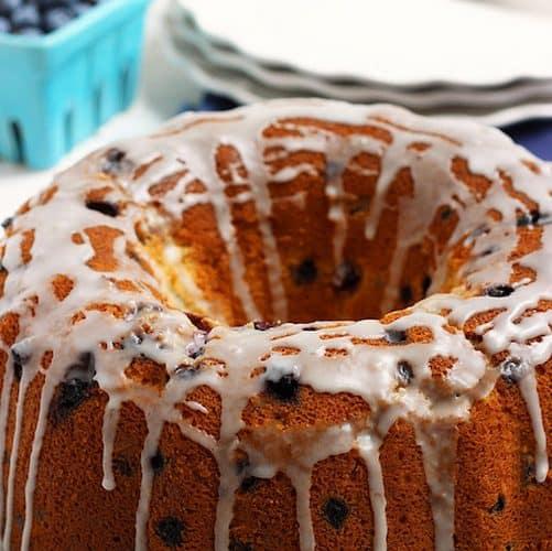 Wild Blueberry Lemon Cream Cheese Pound Cake