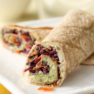Creamy Avocado and White Bean Wrap|Eating Well