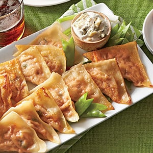 Buffalo Chicken Pot Stickers|My Recipes