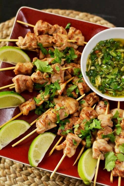 Thai Chicken Skewers With Sweet Chili Sauce|Knead for Food