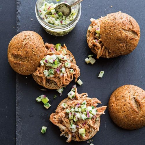 Pulled Chicken Sliders with Apple Jicama Relish|Williams-Sonoma