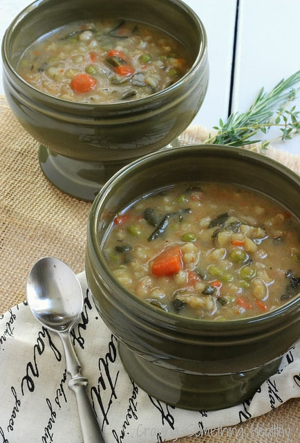Heart Smart Bean and Barley Vegetable Soup|Craving Something Healthy