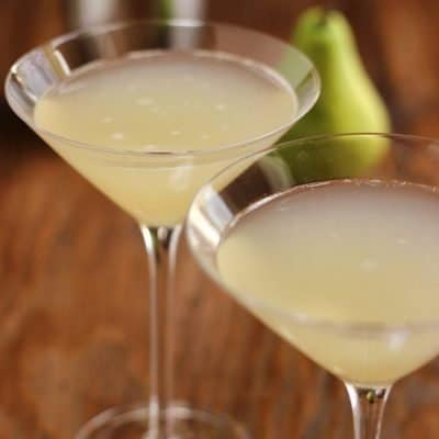 Ginger Pear Martini or Mocktail {Recipe ReDux}