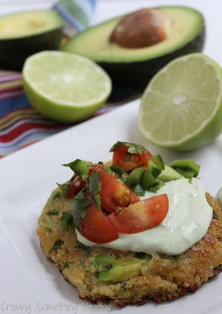 Avocado Quinoa Cakes Craving Something Healthy