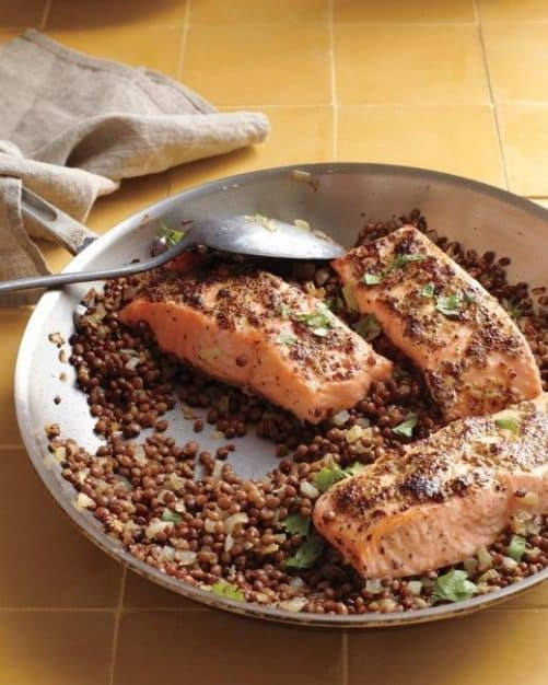 Mustard Glazed Salmon with Lentils Martha Stewart