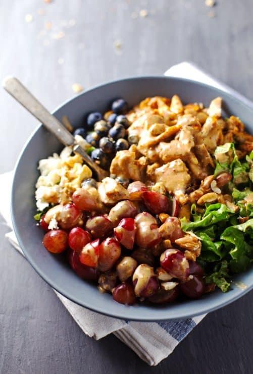 Rainbow Chicken Salad|Pinch of Yum