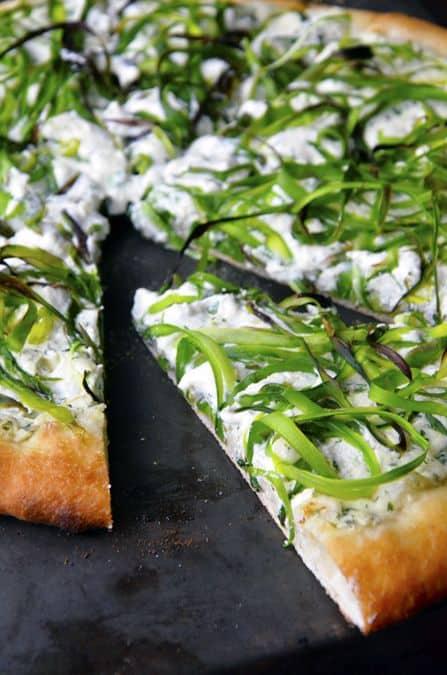 Asparagus and Ricotta Pizza Just A Taste