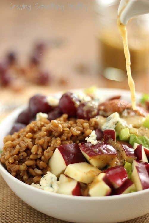 Wheat Berry Waldorf Salad Craving Something Healthy