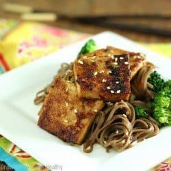 Maple Miso Tofu with Broccoli and Soba Noodles|Craving Something Healthy