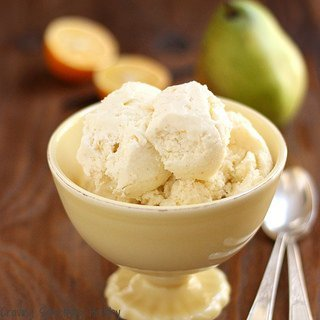 Skinny Pear and Meyer Lemon Ice Cream