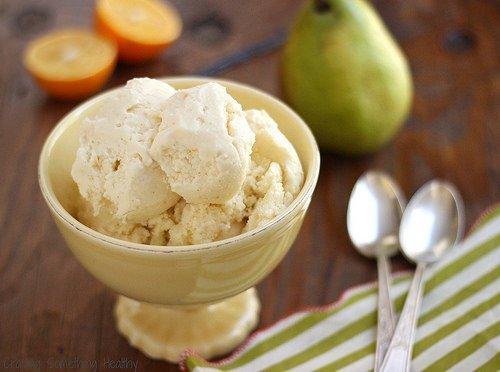 Skinny Pear and Meyer Lemon Ice Cream