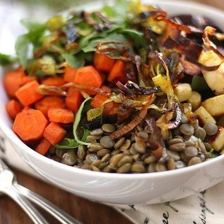 Warm Lentil Salad {Meatless Monday}
