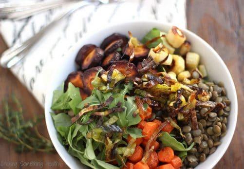 Warm Lentil Salad Craving Something Healthy