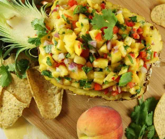 Peach Pineapple Salsa|The Kitchen is My Playground
