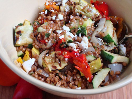 Grilled Vegetable Salad with Wheat Berries|Craving Something Healthy