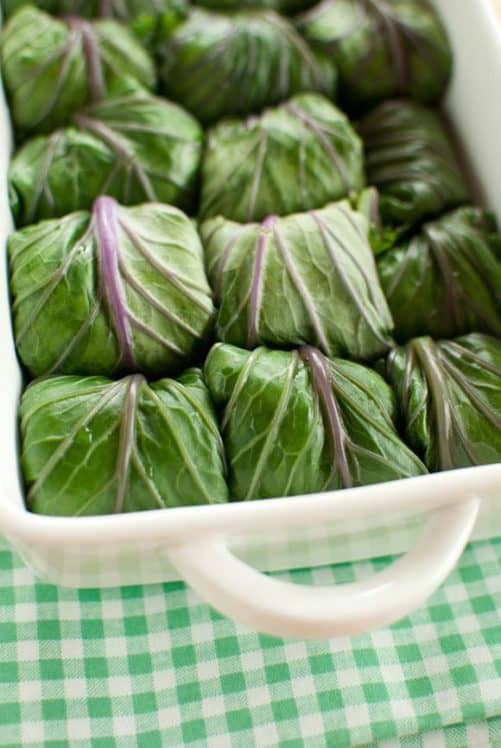 Kale Rolls with Quinoa Chickpea Stuffing FoodSniffr