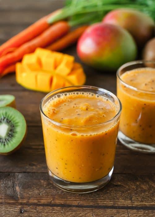 Carrot Mango and Kiwi Smoothie  Kitchen Confidante