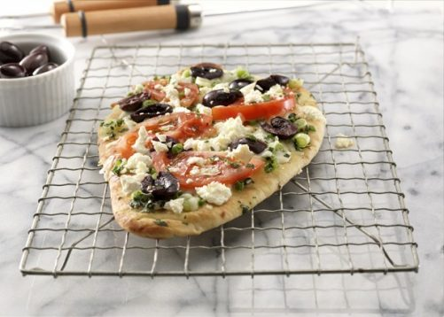 Greek Style Grilled Naan Pizza Stonefire