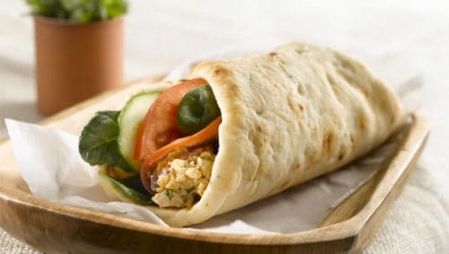 Spicy Chickpea Naan Wrap Stonefire