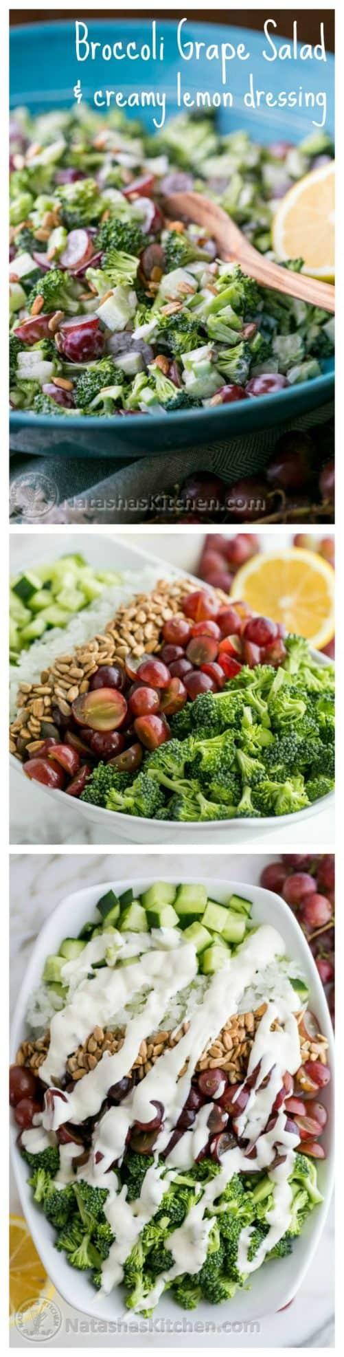 Broccoli Grape Cucumber Salad Natasha's Kitchen